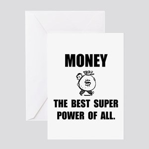 Money Super Power Greeting Card