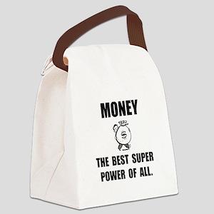 Money Super Power Canvas Lunch Bag