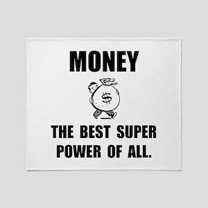 Money Super Power Throw Blanket