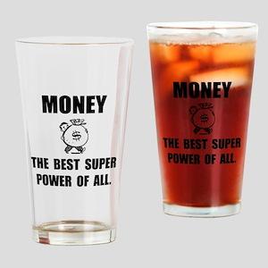 Money Super Power Drinking Glass
