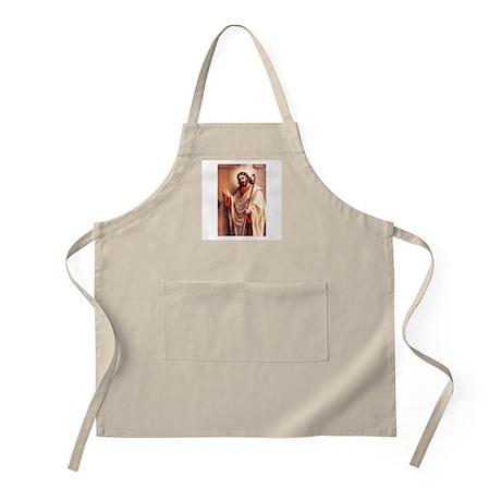 Jesus at Door BBQ Apron