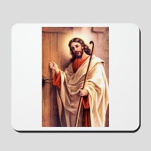Jesus at Door Mousepad