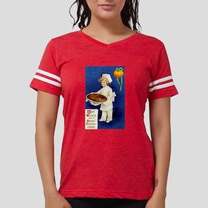 Thanksgiving Chef with Pumpk Womens Football Shirt
