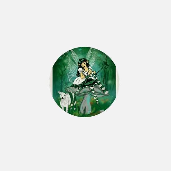 Green Lolita Bo Beep Knitting Fairy Mini Button