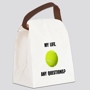 My Life Tennis Canvas Lunch Bag