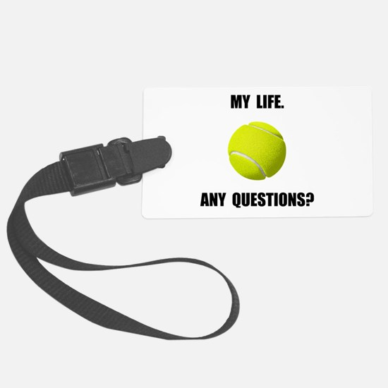 My Life Tennis Luggage Tag