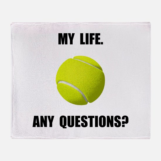 My Life Tennis Throw Blanket