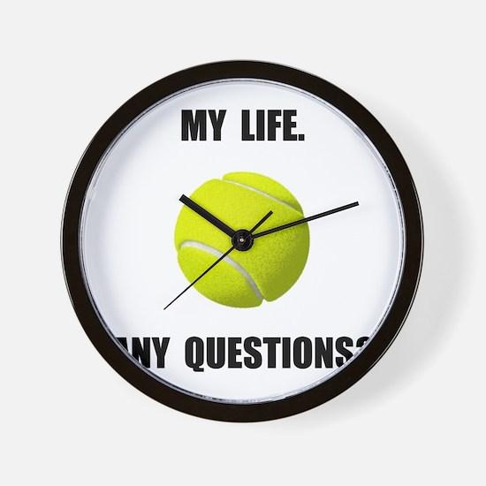 My Life Tennis Wall Clock
