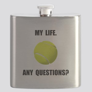 My Life Tennis Flask