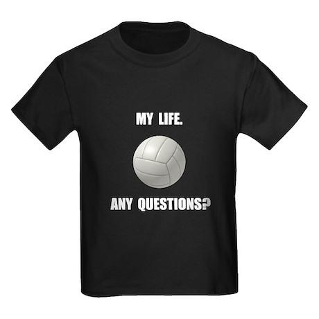 My life volleyball kids dark t shirt my life volleyball t for Life is good volleyball t shirt