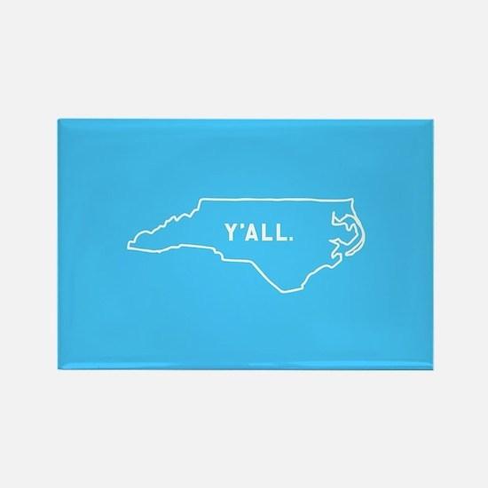 North Carolina Y'all Rectangle Magnet