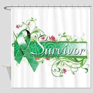 Survivor Floral copy Shower Curtain