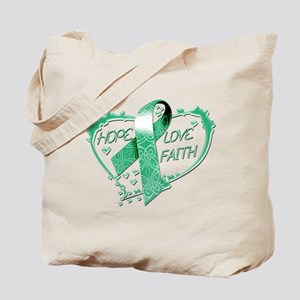 Hope Love Faith Heart copy Tote Bag