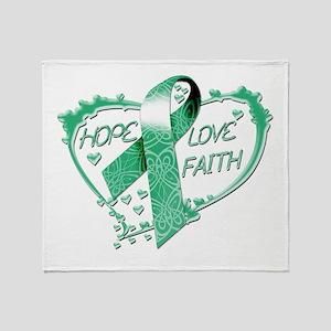Hope Love Faith Heart copy Throw Blanket