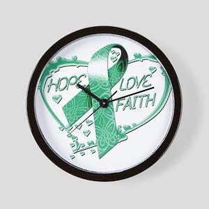 Hope Love Faith Heart copy Wall Clock