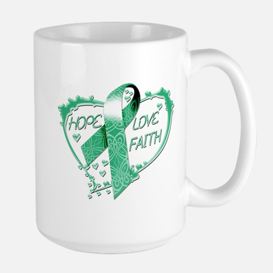 Hope Love Faith Heart copy Mug
