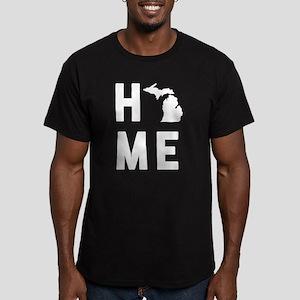 Michigan Home Men's Fitted T-Shirt (dark)