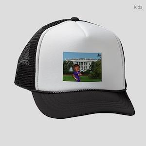 president donald trump Kids Trucker hat