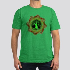 Celtic Tree (2gr) Men's Fitted T-Shirt (18 colors)