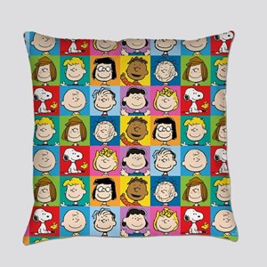 Peanuts Back to School Pattern Everyday Pillow