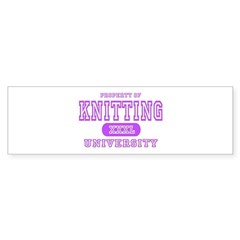 Knitting University Bumper Bumper Sticker