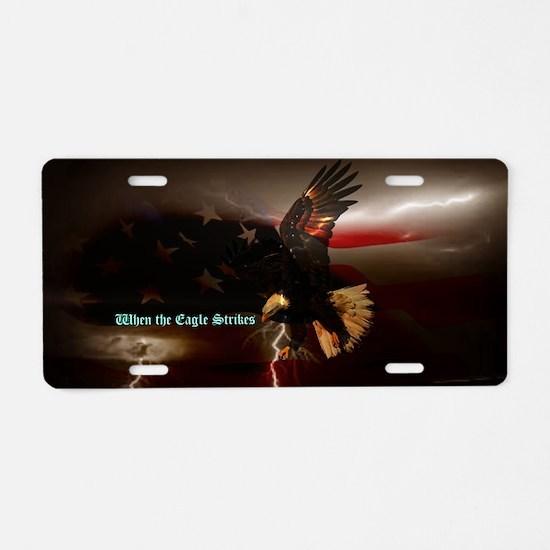 Proud Eagle Aluminum License Plate