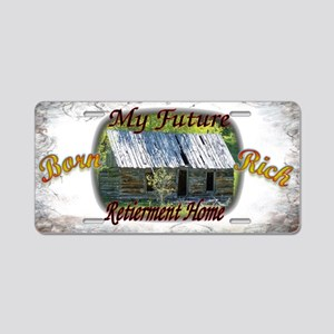 Born Rich Aluminum License Plate
