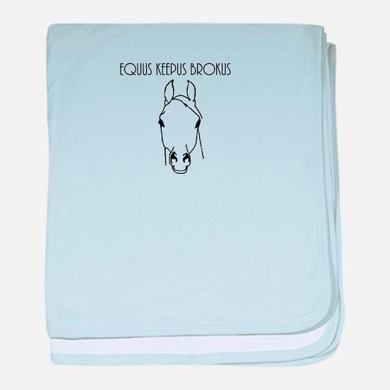 Equus Keepus Brokus baby blanket