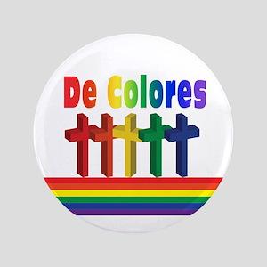 """Marching Crosses De Colores 3.5"""" Button"""