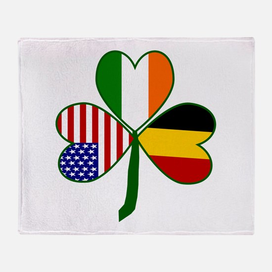 Shamrock of Belgium Throw Blanket