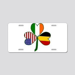Shamrock of Belgium Aluminum License Plate