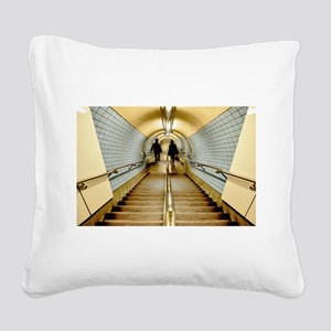 The Descent of Man 3 Square Canvas Pillow