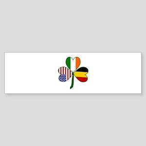 Belgian Shamrock Bumper Sticker