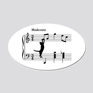 Cat Jumping to Note Wall Decal