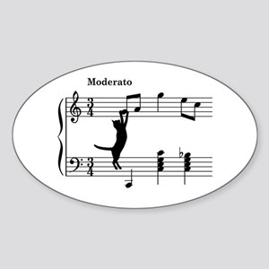 Cat Jumping to Note Sticker