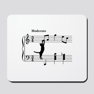 Cat Jumping to Note Mousepad