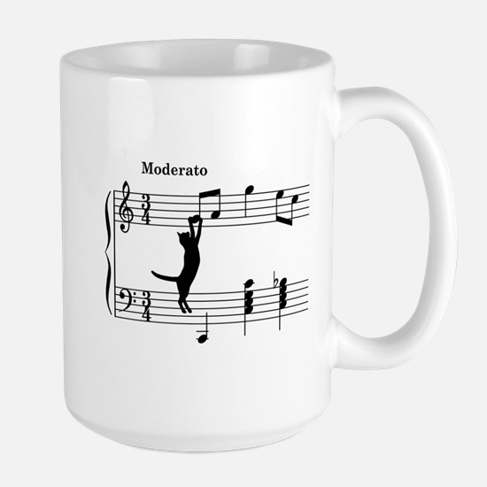 Cat Jumping to Note Mug