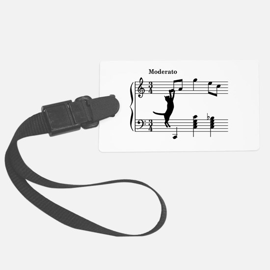 Cat Jumping to Note Luggage Tag