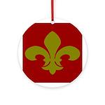 New Orleans Fleur De Lis Ornament (Round)