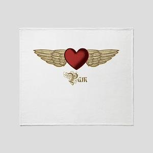 Pam the Angel Throw Blanket