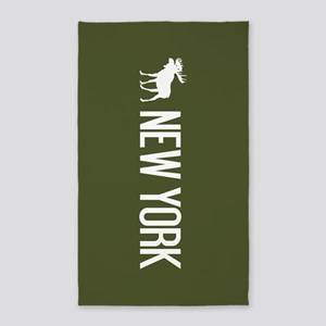 New York Moose Area Rug