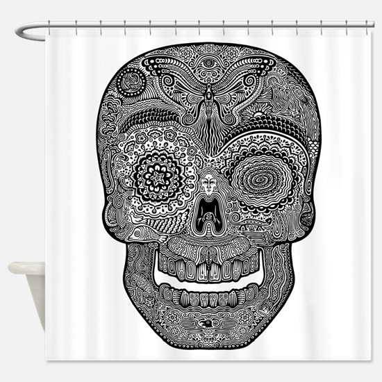 dod-sk-5-11-bw-T.png Shower Curtain