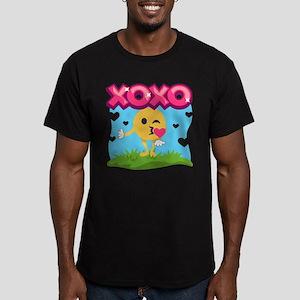 Emoji Smooches Men's Fitted T-Shirt (dark)