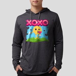 Emoji Smooches Mens Hooded Shirt