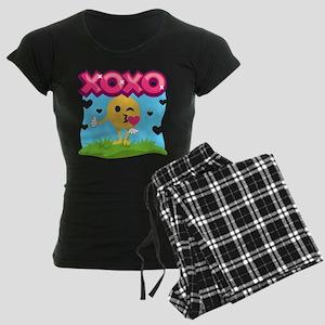 Emoji Smooches Women's Dark Pajamas