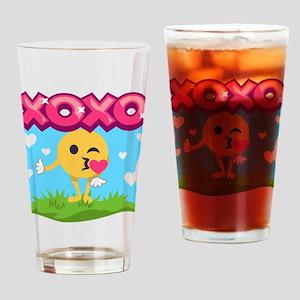 Emoji Smooches Drinking Glass