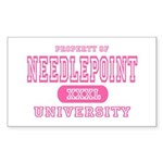 Needlepoint University Rectangle Sticker