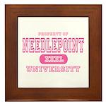 Needlepoint University Framed Tile