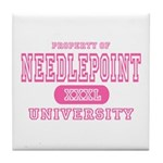Needlepoint University Tile Coaster