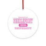 Needlepoint University Ornament (Round)